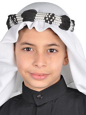 Compiacente Tradizionale Araba Arabo Per Bambini Royal Copricapo Sceicco Foulard Kkb5