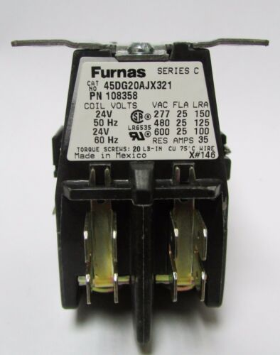 SIEMENS FURNAS 45DG20AJX321 Definite Purpose 2 Pole 24 V Contactor