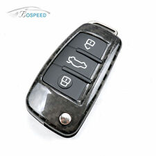 Real Carbon Fiber Remote Flip Key Cover Case for Audi A1 A3 A4L A6L Q3 Q7 TT