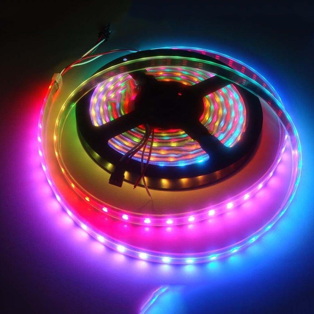 1m 30 60 144 RGB LED tira Stripe con ws2812b 5050 SMD LED ws2812 envío   VJ