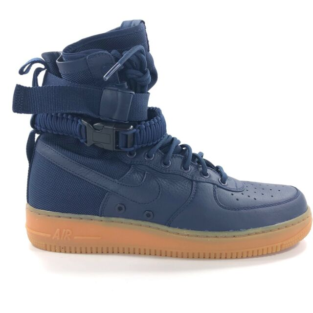 e6169fbe8f13a2 Nike SF Af1 Air Force 1 Special Forces Midnight Navy Gum 864024-400 10.5