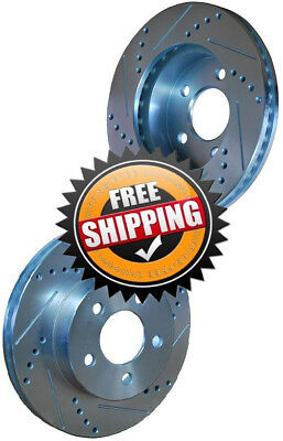 Pontiac Fiero 88 Drilled Slotted Brake Rotors FRONT
