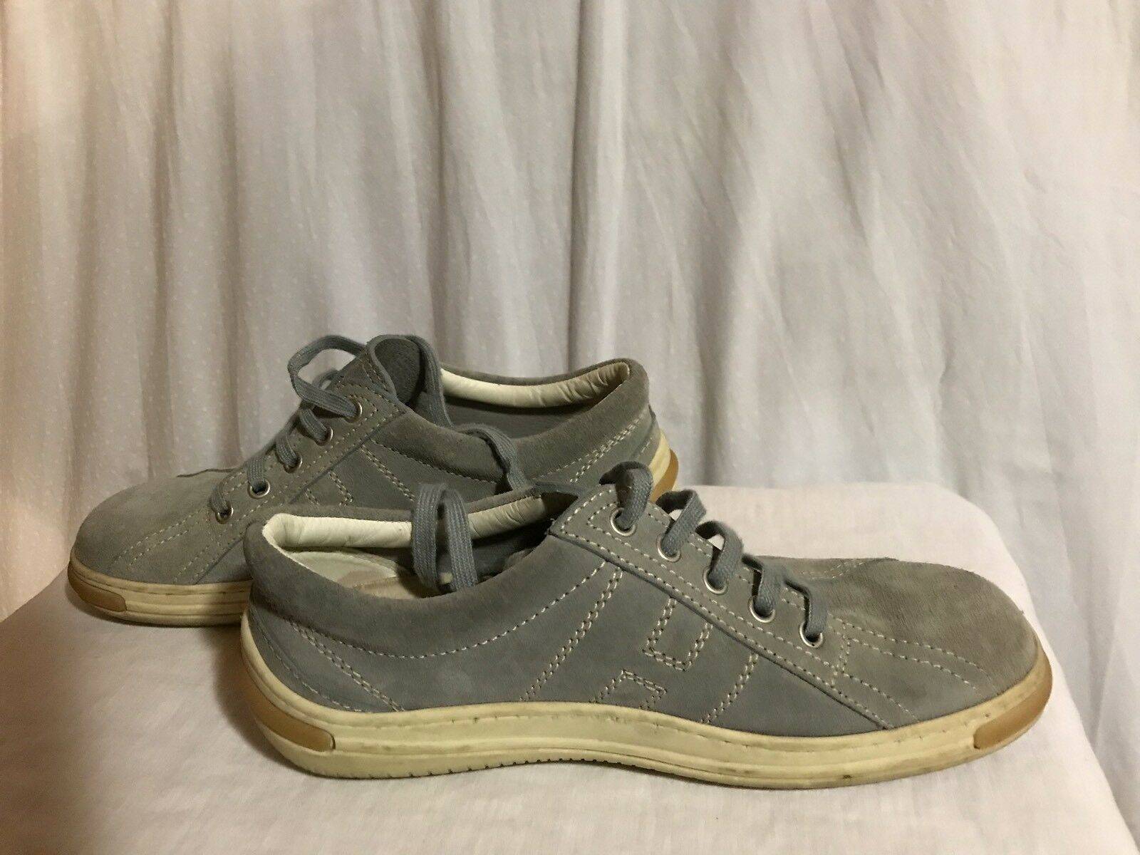 Hogan Women Grey shoes size 7 made in .