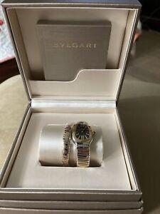 Bulgari Serpenti Tubogas 35mm 102123 sp35bspg.1t Ladies Watch Complete Bvlgari