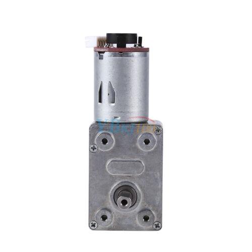 10~100RPM DC 12V Turbo Worm Gear Box High Torque Geared Reduction Motor Encoder