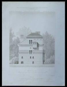 CROISSY-SUR-SEINE-VILLA-DUC-1875-GRAVURE-ARCHITECTURE-JOSEPH-LOUIS-DUC