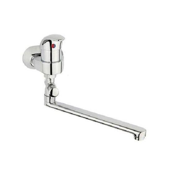 Bade-Einhebelmischer 45 mm, chrom,Einhebel  Armatur, S-Profil Auslauf 250 mm