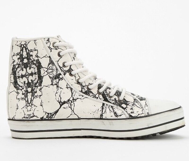 NEW 220 220 220 Shakuhachi Marble Leder High Top Sneakers Größe 40 & 41 e64561