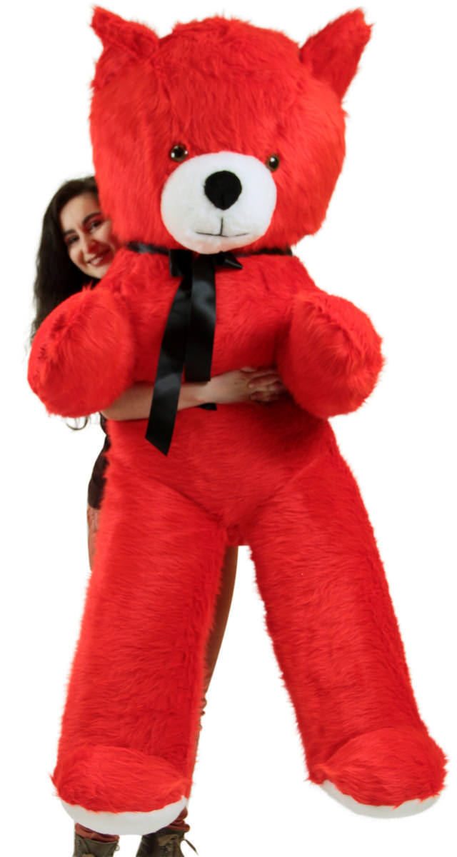 American Made 6 Foot Giant Red Teddy Bear Soft 72 Inch Life Size Brand New