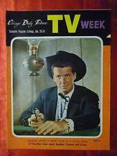 January 25-31 TV WEEK guide 1958 CHICAGO TRIBUNE MAVERICK James Garner Sky King
