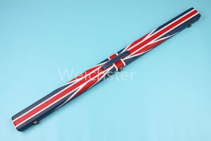 Deluxe-Quality-3-4-Piece-Union-Jack-Flag-Design-Snooker-Pool-Cue-Case-Weichster