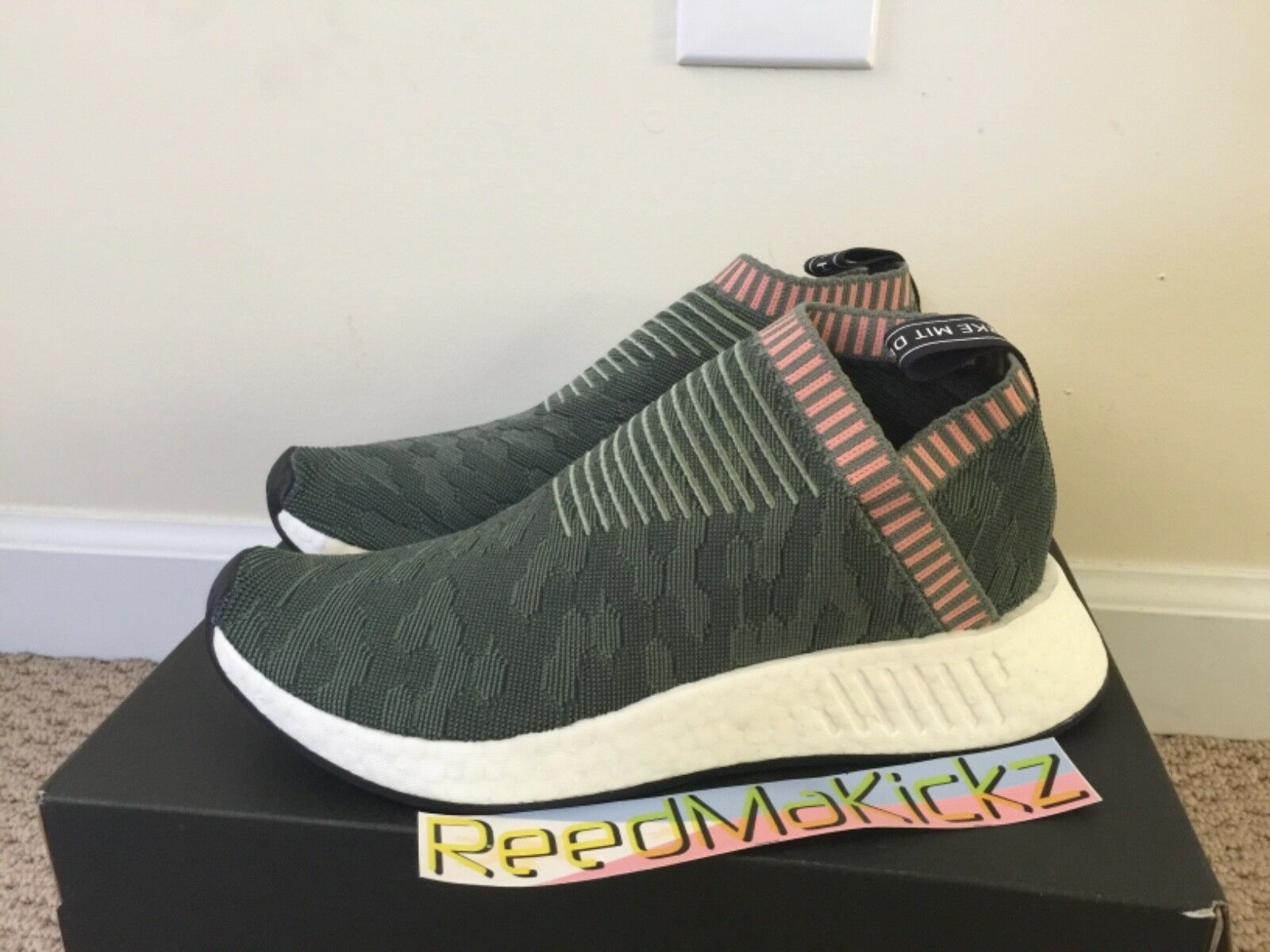 Adidas NMD CS2 Primeknit Trace Green Pink  Womens sizes BY8781