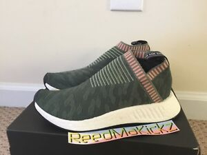 7e5223951350d Image is loading Adidas-NMD-CS2-Primeknit-Trace-Green-Pink-Womens-