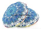 """32"""" Round Peacock Mandala Tapestry Floor Cushion Cover Large Ottoman Poufs Throw"""