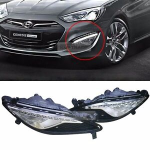Image Is Loading Genuine Parts Led Drl Fog Light Lamp Cover