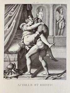 Agostino Carracci Erotico Pene atto vagina Omero Iliade antichi Achille Briseide