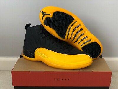 New Air Jordan 12 University Gold Black Retro 130690 070 Size 8