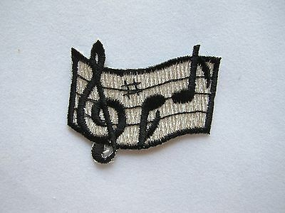 Gold,Silver Musical Signs,Notation,Staff Embroidery Iron On Applique Patch