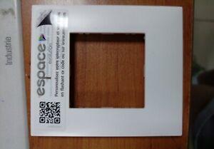 Lot de 10 plaques simple blanche Arnould Espace Evolution 64401