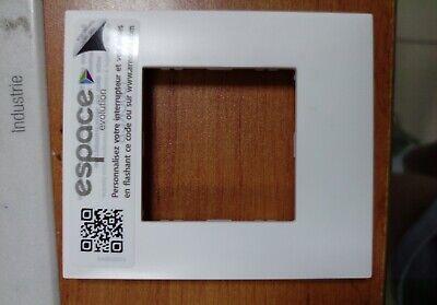 blanc ARNOULD ESPACE 64401 Plaque 2 modules