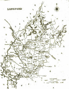 Map Of Ireland Longford.Details About Large Map Of County Longford Ireland C1840