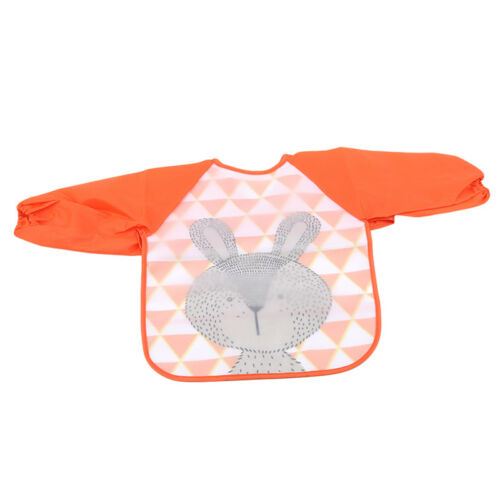 Baby Toddler Long Sleeve Waterproof Feeding Art Apron Bib Smock Boys Girls Z