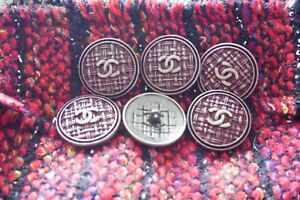 100-Authentic-Chanel-Button-logo-cc-6-pieces-26-mm-1-inch-XL