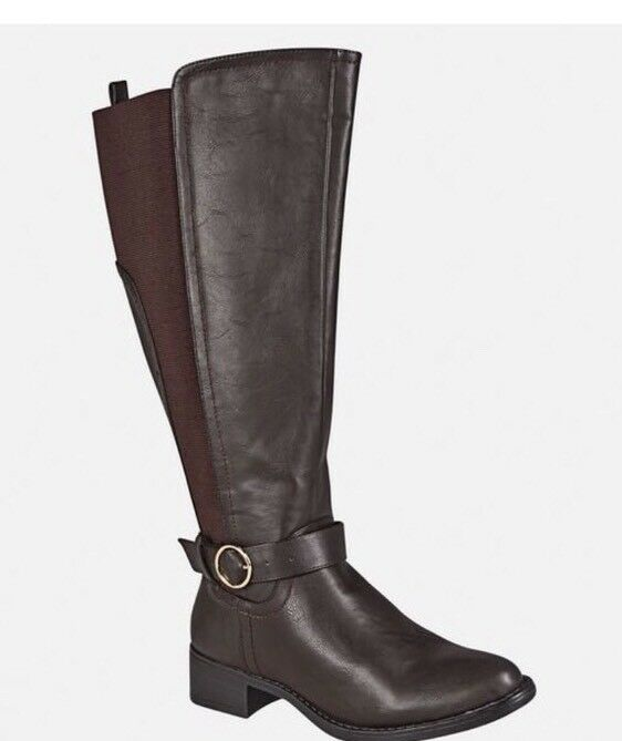 Avenue Damens's Tall Braun Stiefel With Gold Detail 13w