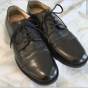 chaps men's oxfords leather shoe black size 95 business