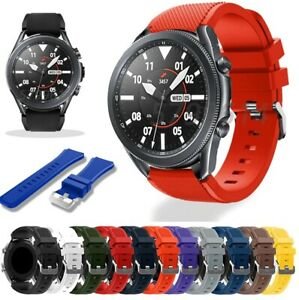 For Samsung Galaxy Watch3 (45mm) Silicone Fitness Replacement Wrist Strap