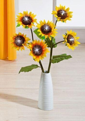 6 Stück Sonnenblumen Frühling Blüten Strauß Beleuchtung Blumen Licht Deko Kranz