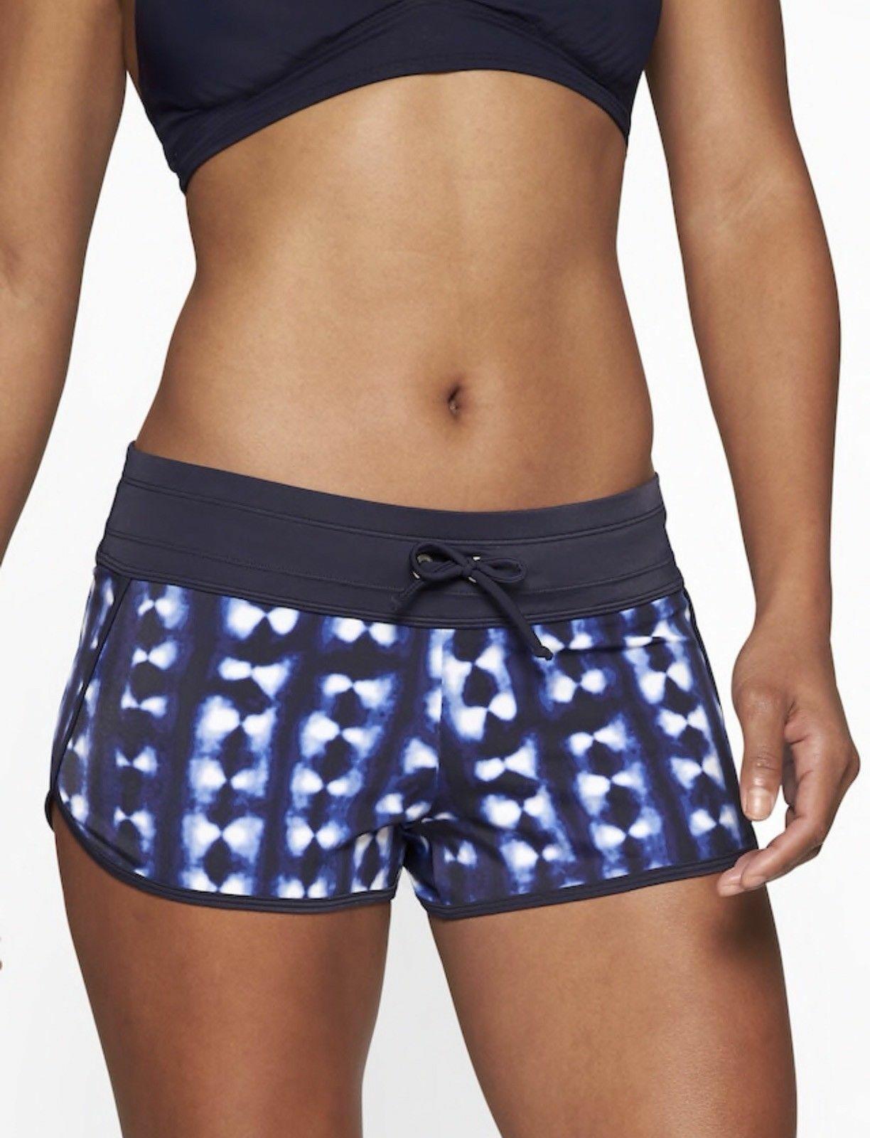 Athleta Mashiko Kata Short, Dress bluee, Size  XL, Beach, Surf, Swim  54, NWT