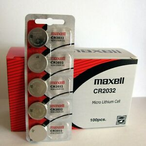 100 original maxell cr2032 cr 2032 lithium 3v battery new. Black Bedroom Furniture Sets. Home Design Ideas