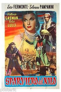 manifesto-2F-film-LO-SPARVIERO-DEL-NILO-Vittorio-Gassman-Silvana-Pampanini-1959
