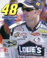 Jimmy Johnson 8x10 Color Photo Picture Lowe's Nascar Racing 48