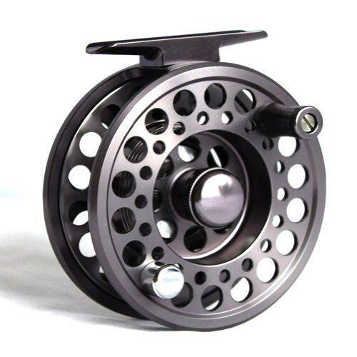 Fly Fishing reel Aluminium - Gunsmoke Grey Colour 3  4 size (reel)  fashion brands