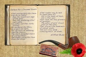 Details About Wilfred Owen Anthem For Doomed Youth First World War Poem A5a4 Canvas Print