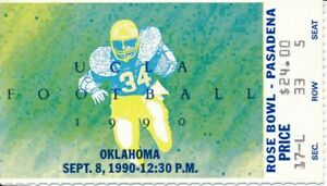 1990 UCLA Bruins vs. University of Oklahoma Football Game ...