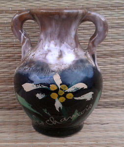 """Antique Small Vase In Potato Style Vallauris,""""the Chamois"""",art Pop,french Glass Vases"""