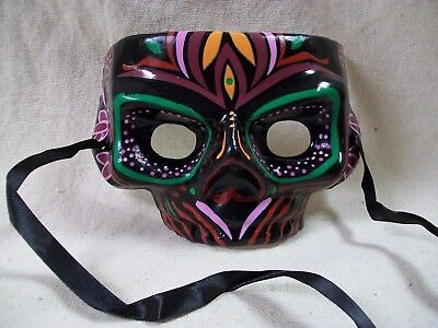 Colorful Zulu Mask Witch Doctor VooDoo Tribal Warrior Maori Polynesian Tiki Luau