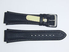 "DI-Modell (Germany) Genuine Calfskin 22 mm BLACK Leather Watch Band ""Pilot"""