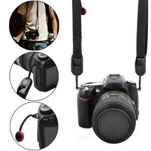 Black-Cord-Neck-Strap-For-RF-Film-Digital-Camera-NEX-E-P-X10-Nikon-Leica-OW