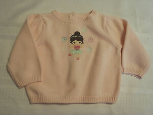84a0ee329 GYMBOREE Girls 6-12 Month Pink Cotton Winter Ballerina Long Sleeve ...