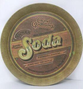 "Vintage 1979 Colonel Goodfellow's Sarsa-parilla Soda 13"" Metal Tray c3"