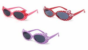 2 Mixed Kids Girls Childrens Sunglasses Cute Bow Style Glasses Shades UV400 UK