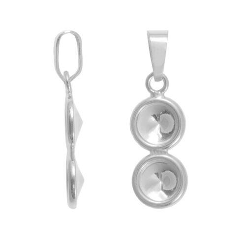 Bolas de plata esterlina colgante para pegar 1122 6mm 8mm Rivoli Cristales