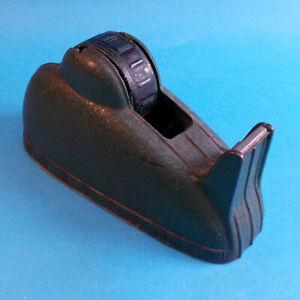 Vtg-Large-Heavy-Industrial-Green-Cast-Iron-Metal-Masking-Tape-Dispenser-3-034-Spool