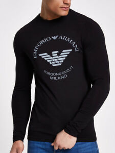 Long-Sleeve-Slim-Fit-Emporio-Armani-BORGONUOVO-Fashion-Stretch-Cotton-T-shirt