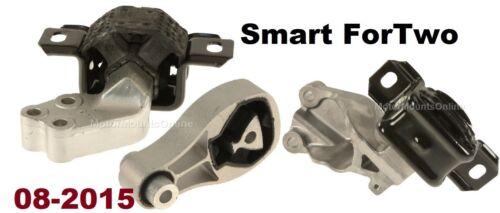 8L0085C 3pc Motor Mounts Fit Smart ForTwo 2008-2011 1.0L Engine Trans Mounts