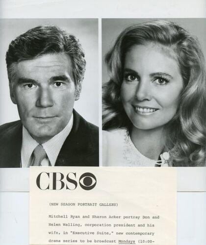 SHARON-ACKER-MITCHELL-RYAN-PORTRAIT-EXECUTIVE-SUITE-ORIGINAL-1976-CBS-TV-PHOTO